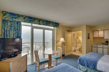 Guestroom at Bay Watch Resort & Conference Center by Oceana Resorts in North Myrtle Beach