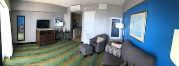 Living Room at The Dolphin Inn in Virginia Beach