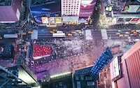 Cool Corner: Times Square and Broadway View