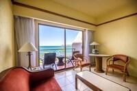 Habitación superior, 2 camas matrimoniales, vista al mar