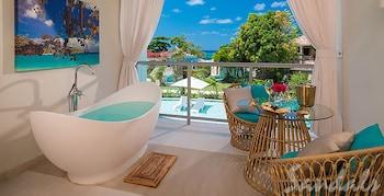 Honeymoon Suite, 1 Bedroom, Garden View (Crystal Lagoon Honeymoon w/Balcony)