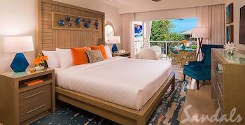 Honeymoon Room, 1 Bedroom, Garden View (Crystal Lagoon Honeymoon w/Balcony)