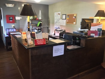 Check-in/Check-out Kiosk at Suburban Extended Stay Hotel in North Charleston