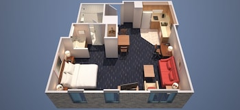 Guestroom at Philadelphia Center City Residence Inn by Marriott in Philadelphia