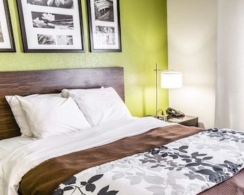 Guestroom at Sleep Inn & Suites near Outlets in Myrtle Beach