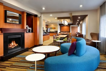 Lobby at Fairfield Inn & Suites by Marriott Dallas Mesquite in Mesquite