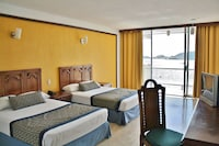 Standard Double Room, 2 Double Beds, Partial Ocean View