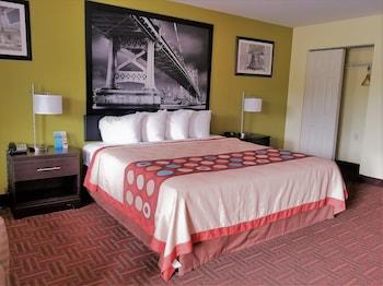 Guestroom at Super 8 by Wyndham Bellmawr NJ/Philadelphia PA Area in Bellmawr