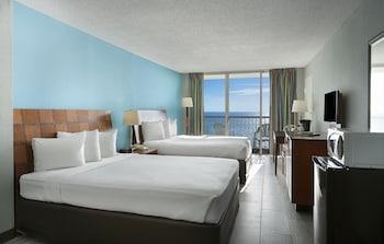 Guestroom at Crown Reef Beach Resort and Waterpark in Myrtle Beach