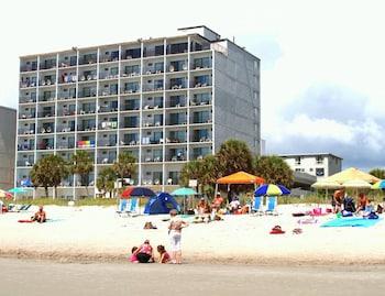 Beach at Polynesian Beach & Golf Resort in Myrtle Beach
