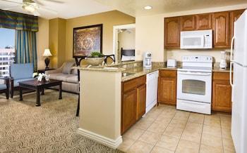 In-Room Kitchen at Wyndham Grand Desert in Las Vegas