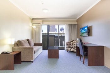Living Room at Riverside Hotel Southbank in South Brisbane