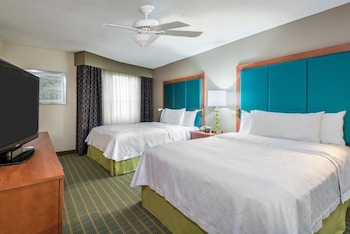 Guestroom at Homewood Suites By Hilton Orlando-Nearest Universal Studios in Orlando