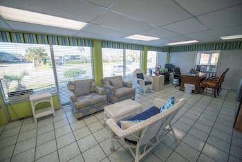 Lobby Sitting Area at Ocean Club, A Festiva Resort in North Myrtle Beach