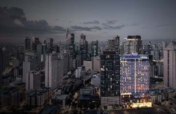 Makati Diamond Residences Front of Property - Evening/Night