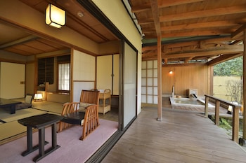 Japanese Style House with Open Air Bath Annex Building, Meals at Room