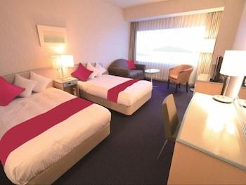 ツイン ルーム禁煙(3名利用可 セミダブルベッド&追加ベッド)|32㎡|せとうち児島ホテル 倉敷