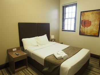 Guestroom at Southern Cross Hotel in St Peters