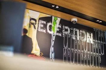 Reception at Ibis Budget Brisbane Airport in Hendra