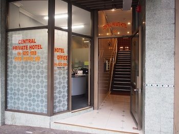 Hotel Entrance at Central Private Hotel in Surry Hills