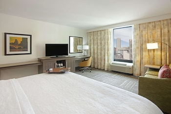 1 King Bed Room with Sofa Bed and City View