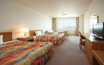 (海側/喫煙) 広々ツインルーム36㎡ 名勝橋杭岩・太平洋を一望|ホテル&リゾーツ 和歌山 串本