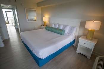Guestroom at Sandcastle Oceanfront Resort by Patton Hospitality in Myrtle Beach