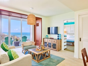 One Bedroom Deluxe Partial Ocean View Suite 1 King Bed with Sofa bed