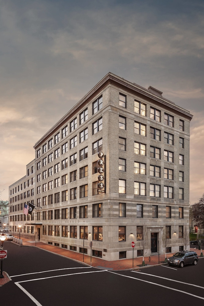 Exterior photo of The Press Hotel, Marriott Autograph Collection, in Portland, Maine