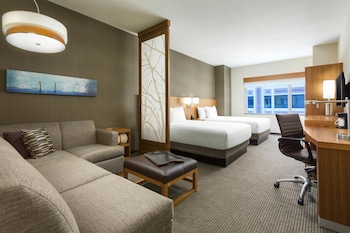 Room, Multiple Beds (Two Queen Beds with Sofa Bed)