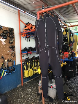 On Dive Love & Peace Resort Bohol Equipment Storage