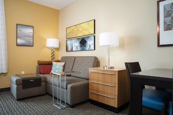 Guestroom at TownePlace Suites Orlando @ Flamingo Crossings West Entrance in Winter Garden