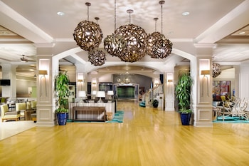 Lobby at Wyndham Garden Lake Buena Vista Disney Springs® Resort Area in Lake Buena Vista