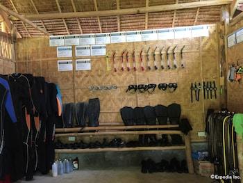 Bohol Lahoy Dive Resort Equipment Storage