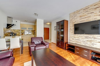 Apartinfo Center Apartments - Living Room  - #0