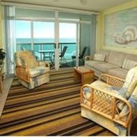 Condo, 1 Bedroom, Oceanfront (1 King bed 2 Single beds 1 sofa bed) at Crescent Keyes by Elliott Beach Rentals in North Myrtle Beach