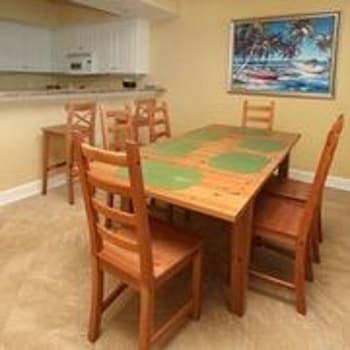 In-Room Dining at Crescent Keyes by Elliott Beach Rentals in North Myrtle Beach