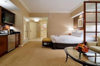 Guestroom at 888 One Bedroom Balcony Suite at Signature Condo Hotel in Las Vegas