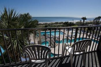 Balcony View at Ocean Inn in Myrtle Beach