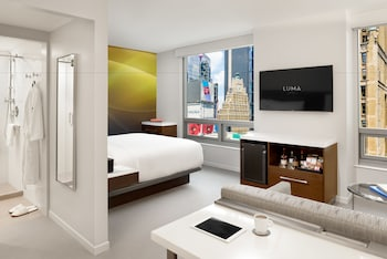 Guestroom at LUMA Hotel Times Square in New York