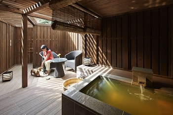Premier Japanese Western Room with Private Partially Open Air Bath, Dogs Allowed (51m)