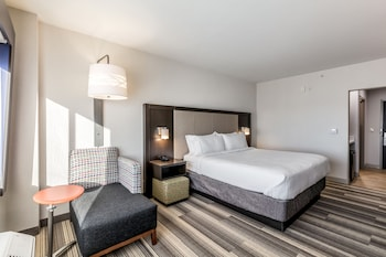 Guestroom at Holiday Inn Express & Suites Jersey City North - Hoboken in Jersey City