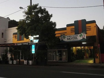 View from Hotel at Town Palms Motel in Murwillumbah