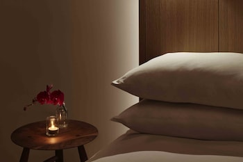 Guestroom at PUBLIC, an Ian Schrager hotel in New York