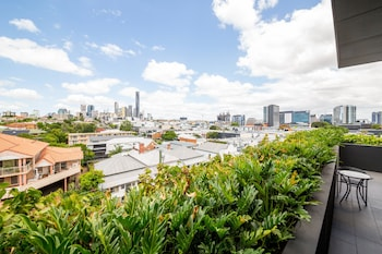 Balcony View at Sage Hotel James Street in Fortitude Valley
