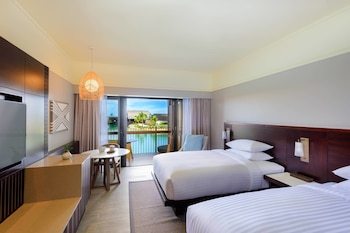 Deluxe Room, 2 Double Beds, Lagoon Front