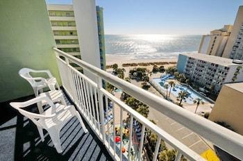 Balcony View at Coral Beach Resort by Elliott Beach Rentals in Myrtle Beach