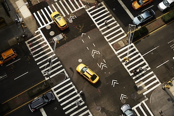 Aerial View at Mondrian Park Avenue in New York