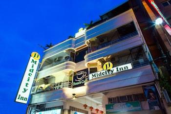 JJ MIDCITY INN Hotel Front - Evening/Night