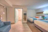 Standard Room, No Windows (Interior Room w 2 Queen beds and Sofa) at Monte Carlo Boardwalk / Oceanfront Ocean City in Ocean City